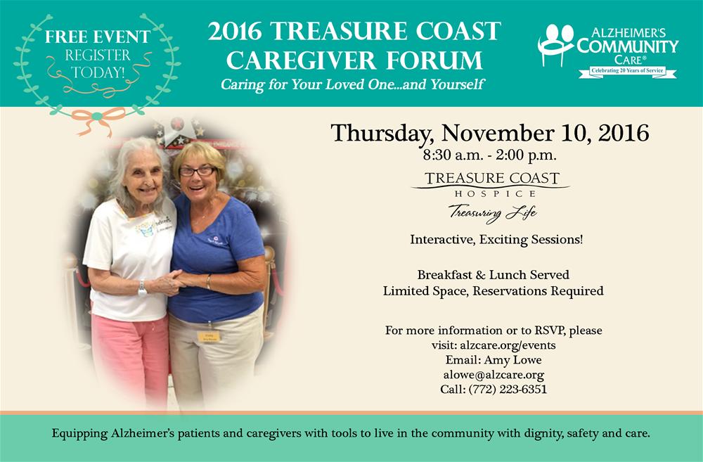 2016 treasure coast caregiver forum alzheimers